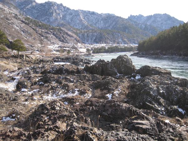 Река Катунь в районе села Еланда
