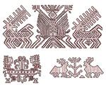 Символ оленя в вышивке