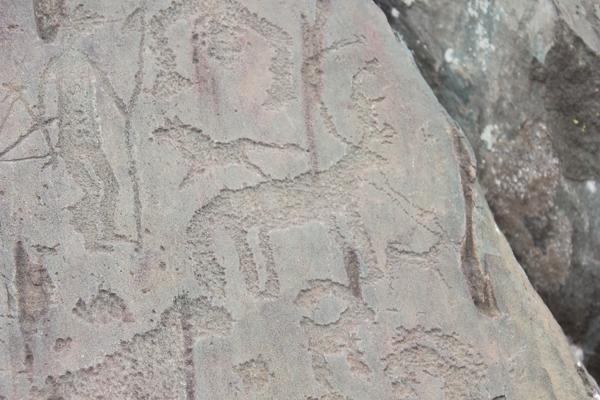 Петроглифы урочища Калбак - Таш